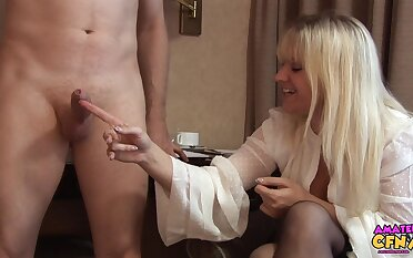 Detect stroking and sucking at home with horny MILF Jessica Rae