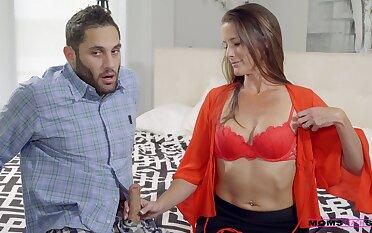 Fit brunette fit together Sofie Marie enjoys having sex with a stranger
