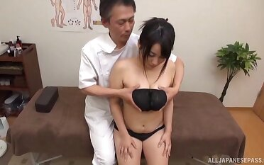 Wise XXX cam personate with a curvy Japanese wife and her advisor