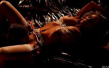 Erotic intercourse with seductive mature jocular mater Brandi Hallow