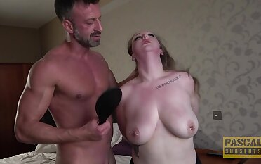 Serious maledom porn for a order about MILF with pierced tits