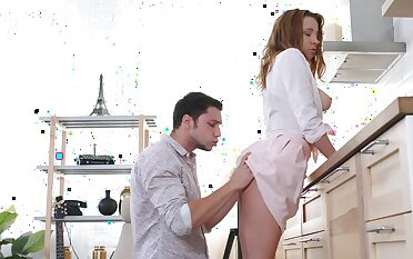 Redhead pumps big inches first thing in the morning