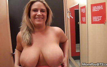 big naturals MILF flashing and fucking