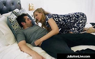 Step Mom Milf Julia Ann Cummed On Face By Step Son!