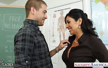 Chesty brunette teacher Tara Holiday fucking