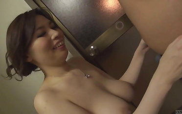 Uncensored voluptuous Japanese Yuko Iijima stripped Subtitle