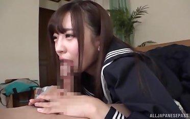 Sweet JAV schoolgirl sucks it in perfect POV