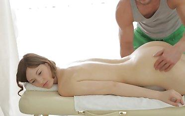 Soft massage turns Ariadna on