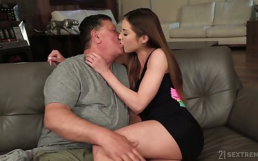 Lusty Hungarian loveliness Akira May loves sideways sex position a lot