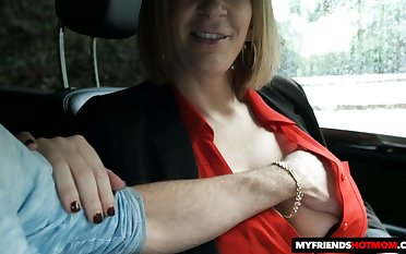 Fantastic telling boobed MILF Sara Jay gives titjob together with enjoys doggy
