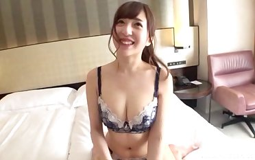 cute Asian spreads will not hear of legs be advantageous to strong penis while she screams