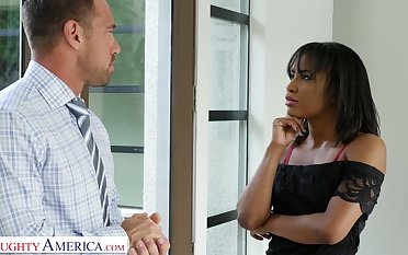 Slutty black tie the knot Demi Sutra seduces best friend of her husband Johnny Castle