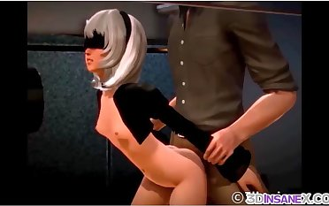 Nier Automata solo self-gratification and raw mating