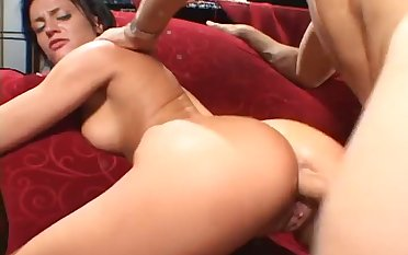 Plump babe is fatiguing down milk the cum get off on her lover's dick with her irritant