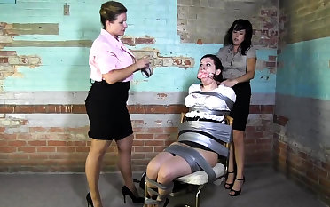 Lesbian BDSM Chained added to Electro Torturous MILF Slave