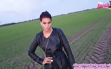 german cute latina model outdoor pov