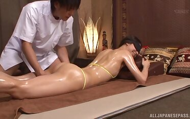 Nice fucking on the massage table on every side amateur Sakurai Mika